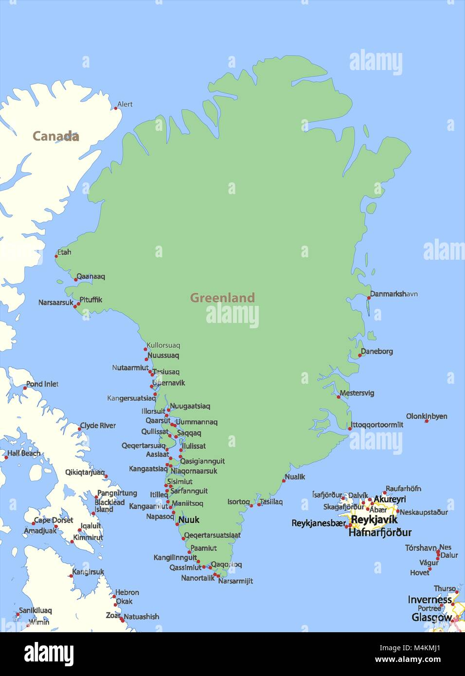 Outline map greenland stock photos outline map greenland stock map of greenland shows country borders urban areas place names and roads gumiabroncs Image collections