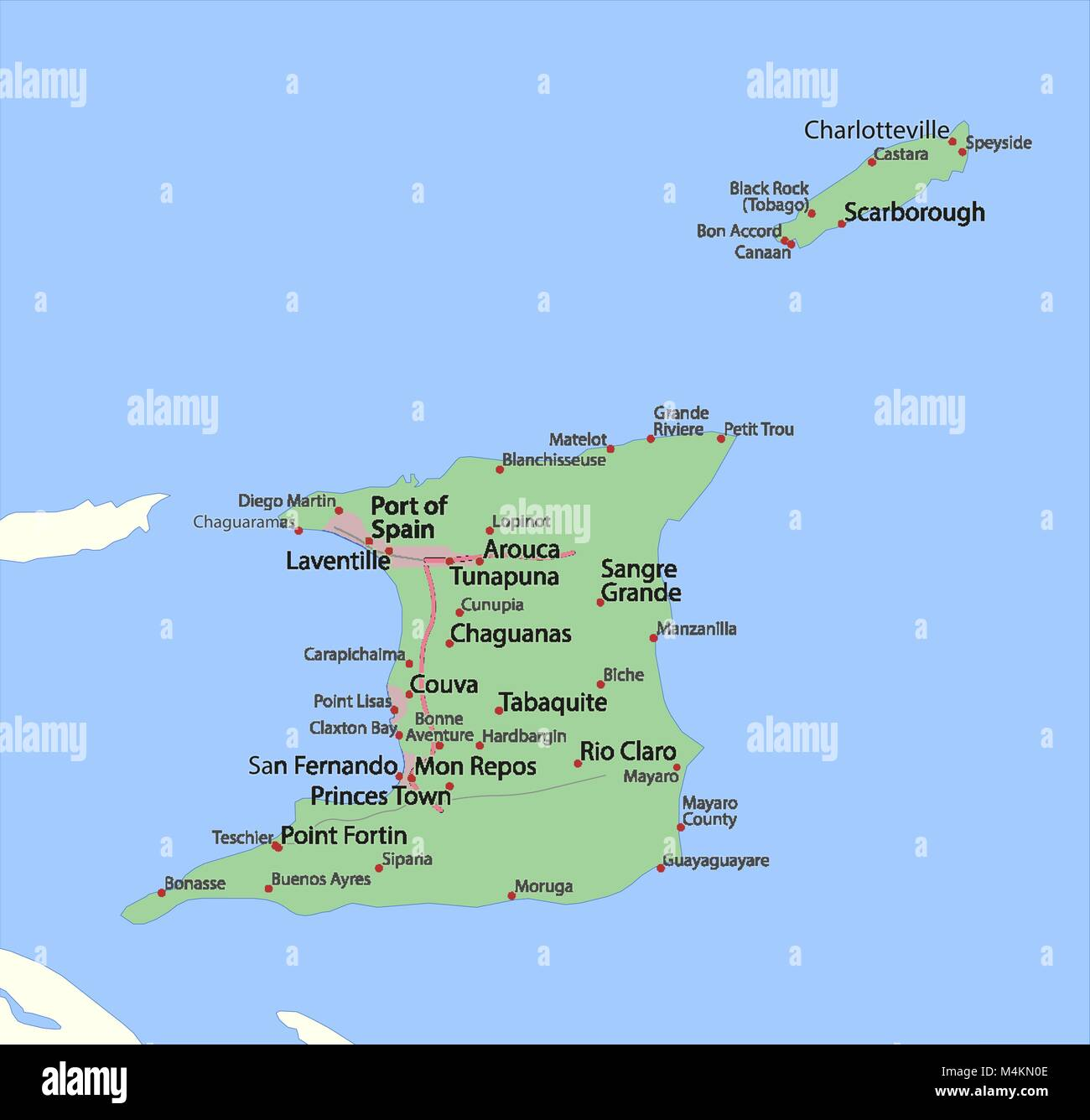 Trinidad Vector Map Stock Photos & Trinidad Vector Map Stock ...