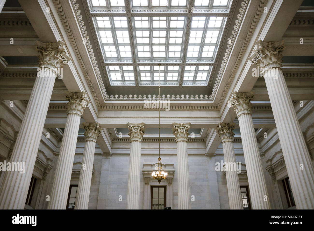 United States Custom House, New Orleans, Louisiana, by Alexander Thompson Wood and others, 1847-81. Interior hall - Stock Image
