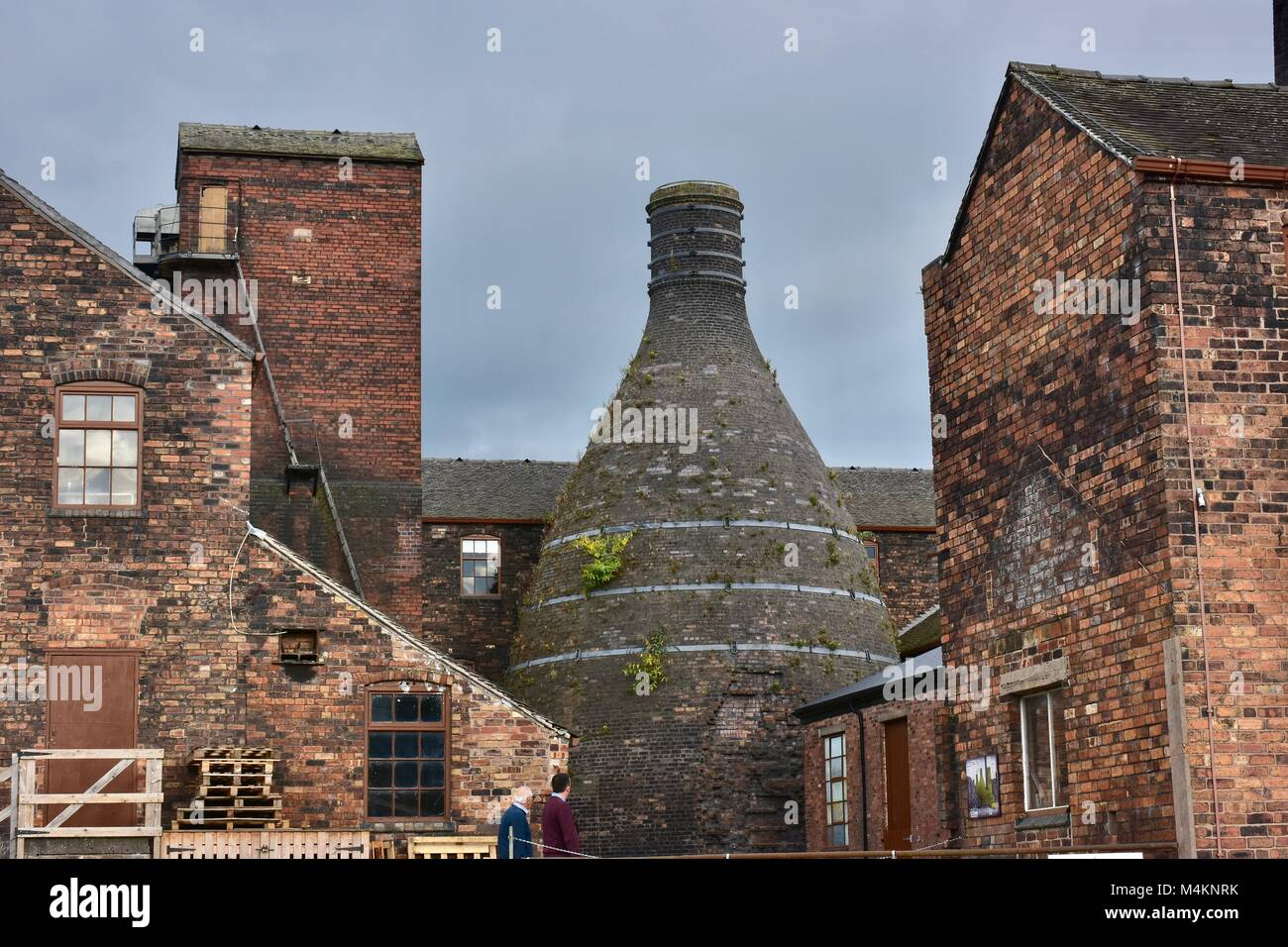 Bottle oven in Middleport potteries on banks of Trent and Mersey canal,Stoke on Trent,Staffordshire,United Kingdom.British - Stock Image