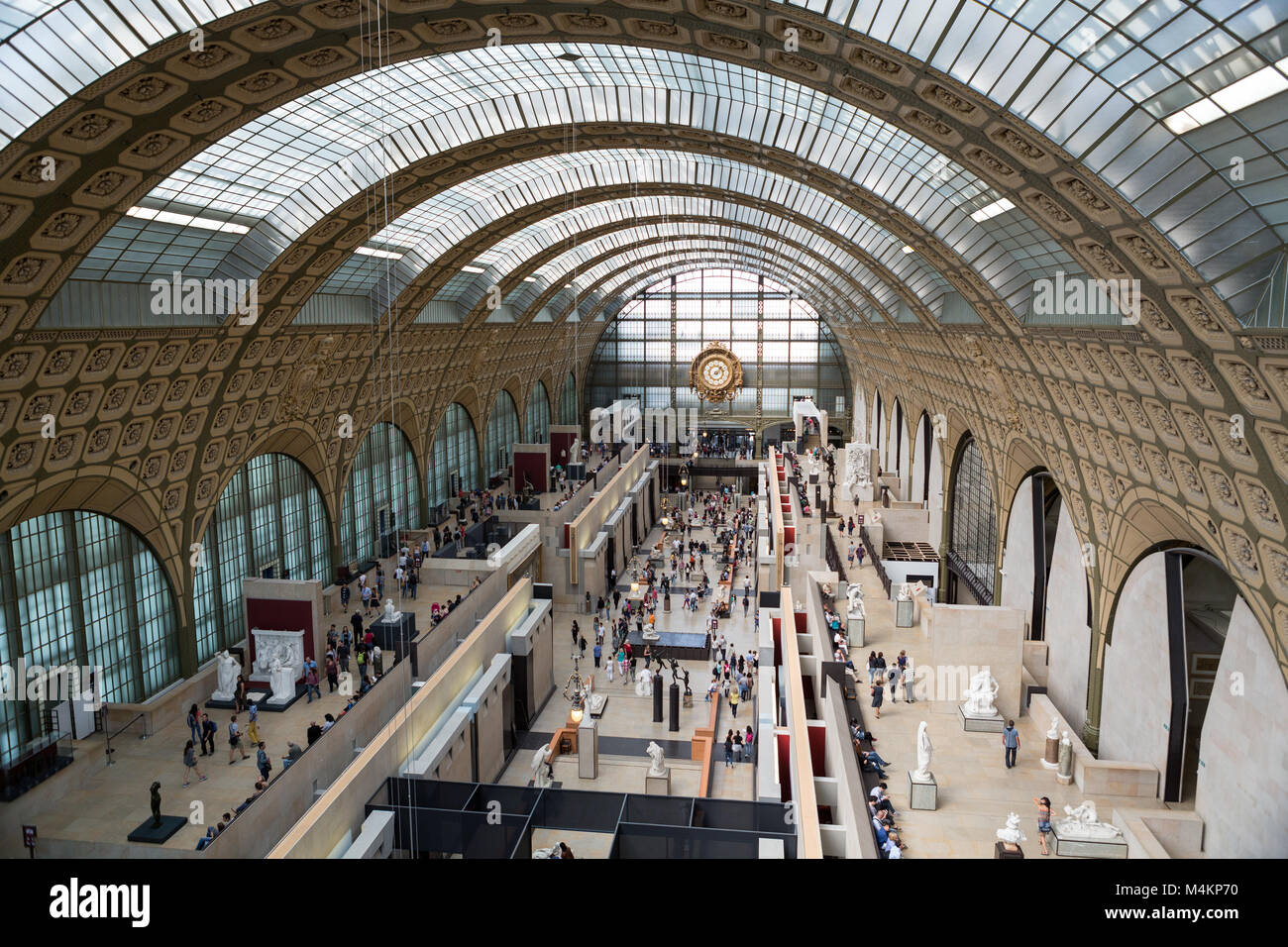 PARIS -SEPTEMBER 7, 2014: the museum D'Orsay in Paris, France. Musee d'Orsay has the largest collection - Stock Image