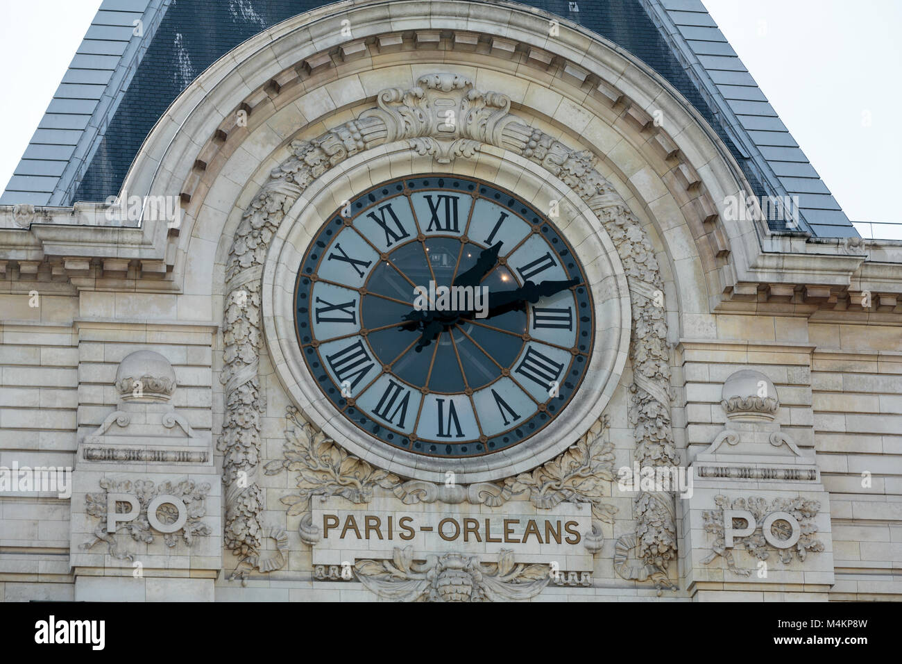 The museum D'Orsay in Paris, France. Musee d'Orsay has the largest collection of impressionist and post-impressionist Stock Photo
