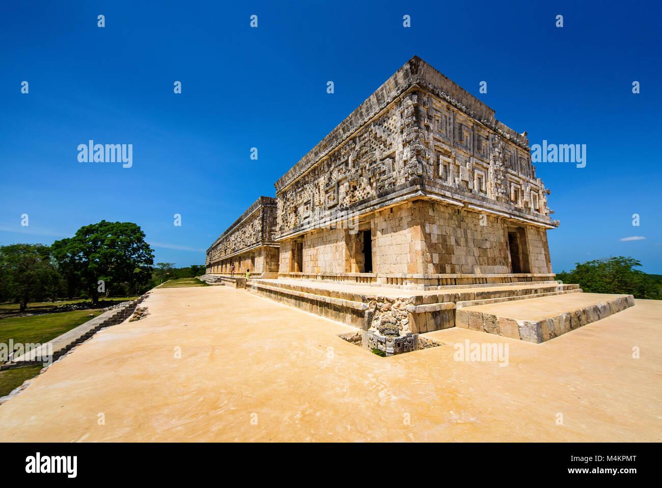 Palacio del Gobernador-Governor's Palace, Maya archeological site Uxmal, Yucatan Province, Mexico, Central America - Stock Image