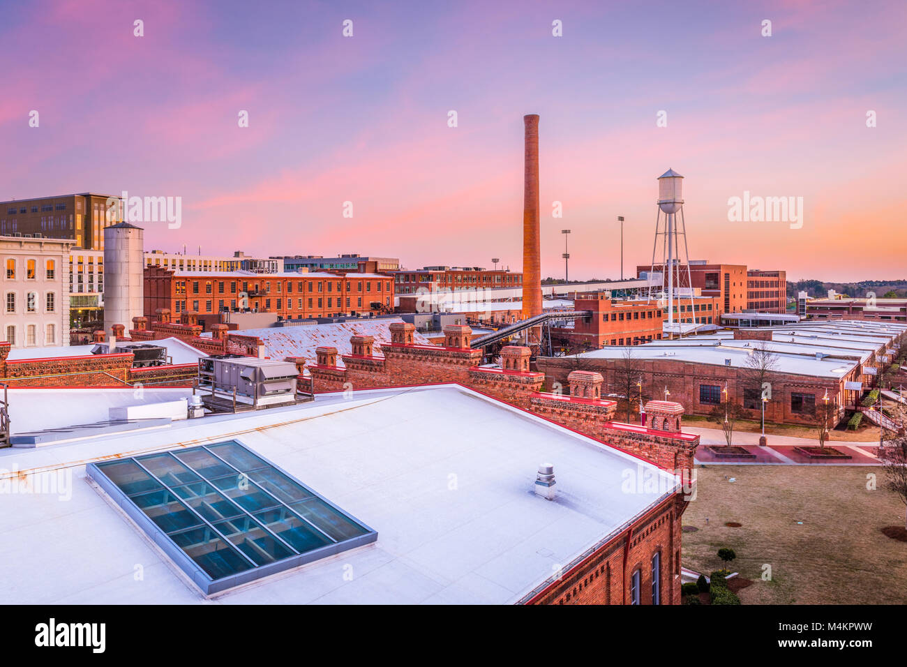 Durham, North Carolina, USA Skyline. - Stock Image