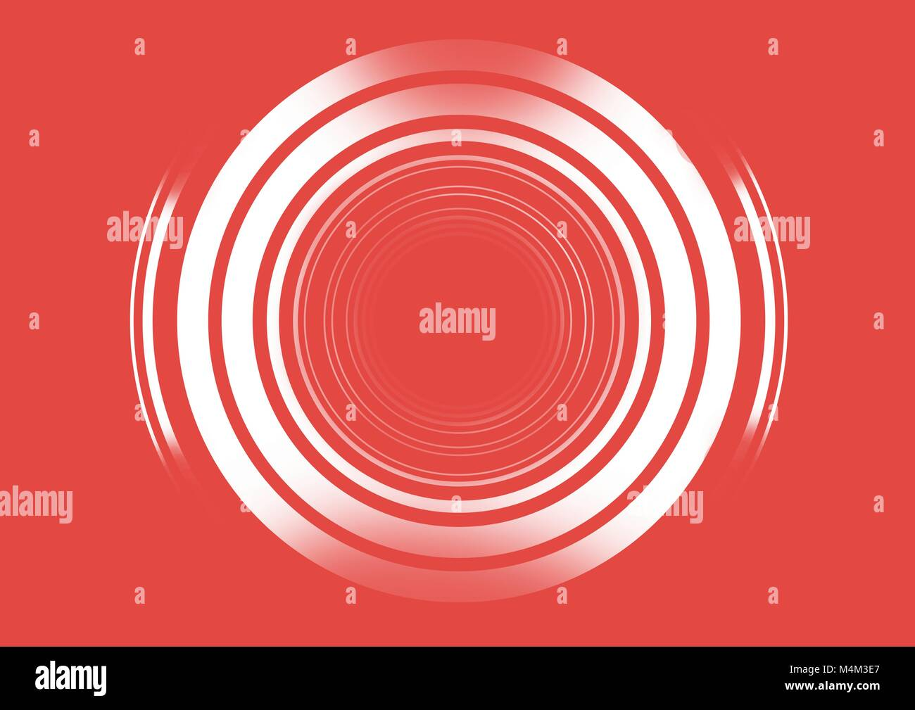Shimmering circles on red background - Stock Image