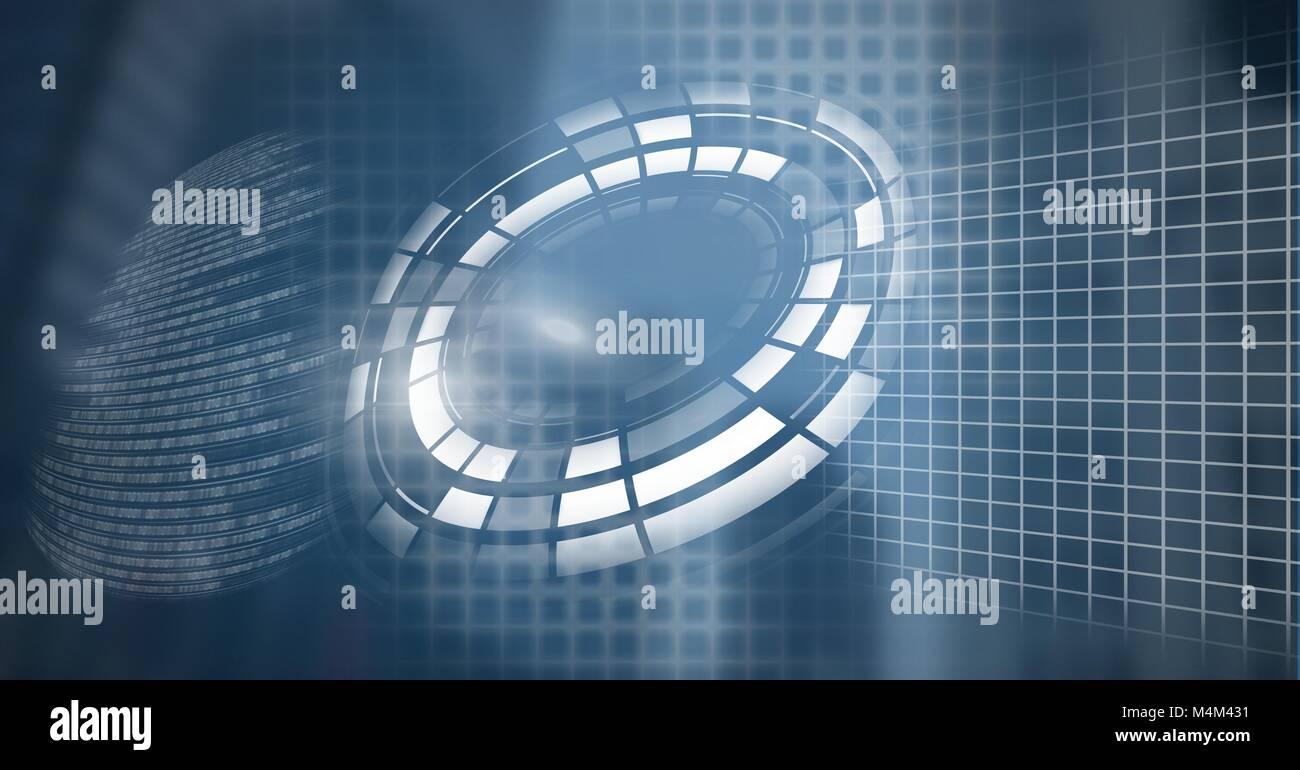 Warped technology interface - Stock Image