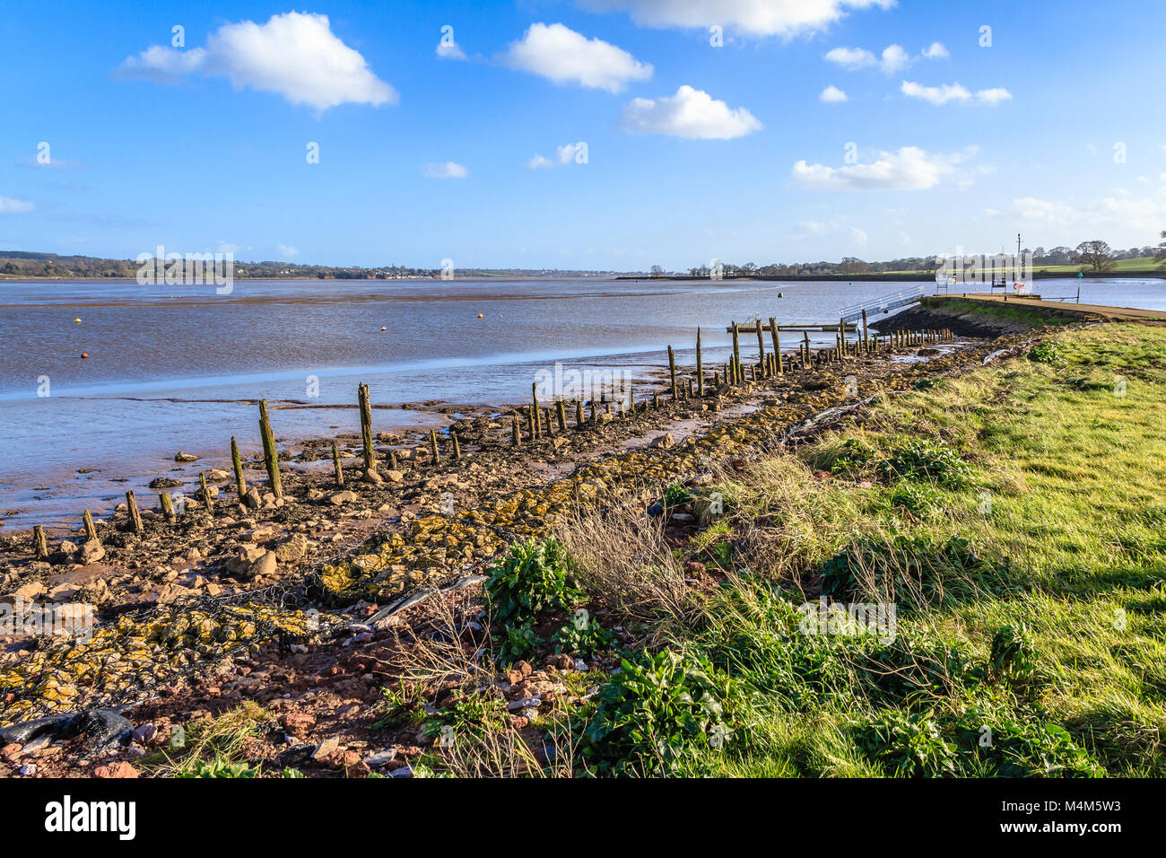 The Exe Estuary from the Turf Hotel, Devon - Stock Image