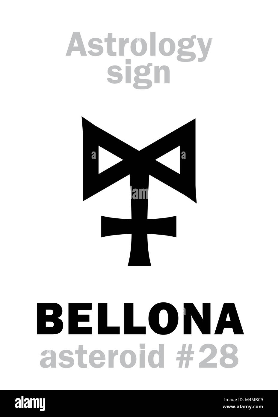 Astrology: asteroid BELLONA - Stock Image