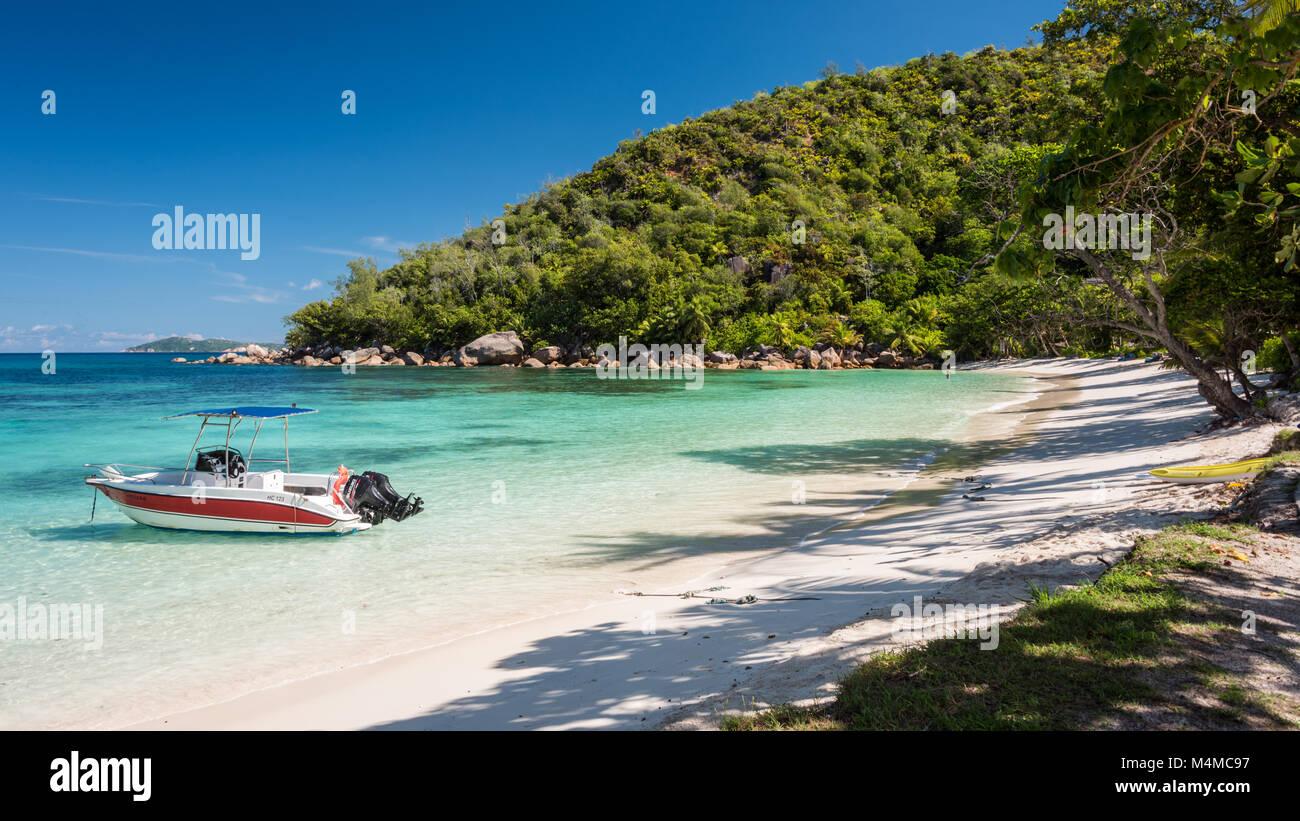Petit Anse Kerlan, Praslin, Seychelles - Stock Image