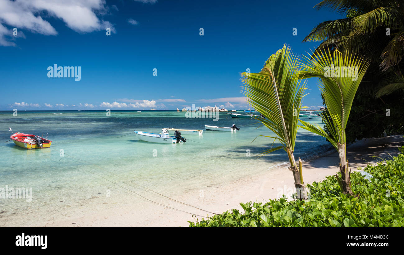 Anse La Réunion, La Digue, Seychelles Stock Photo