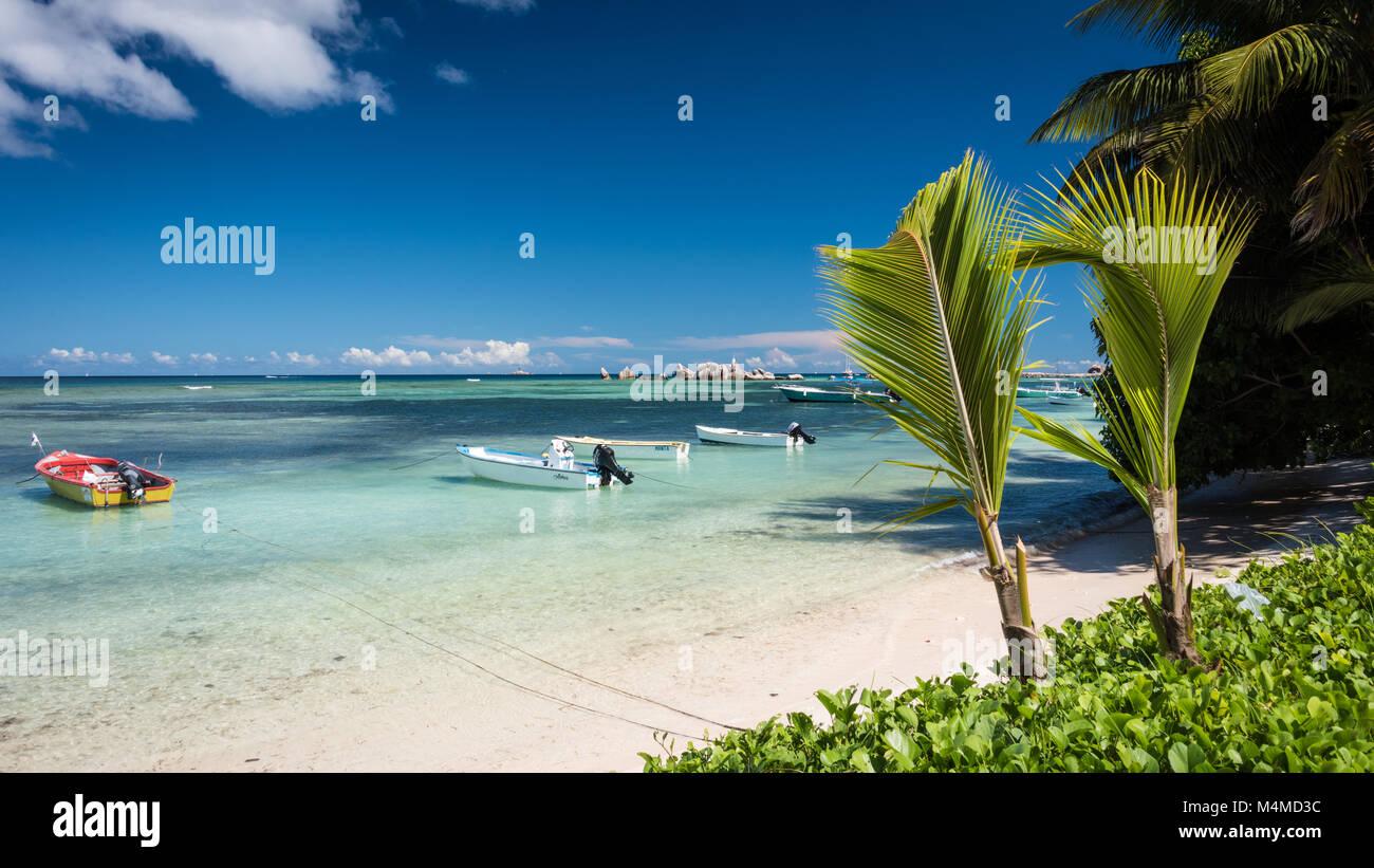 Anse La Réunion, La Digue, Seychelles - Stock Image