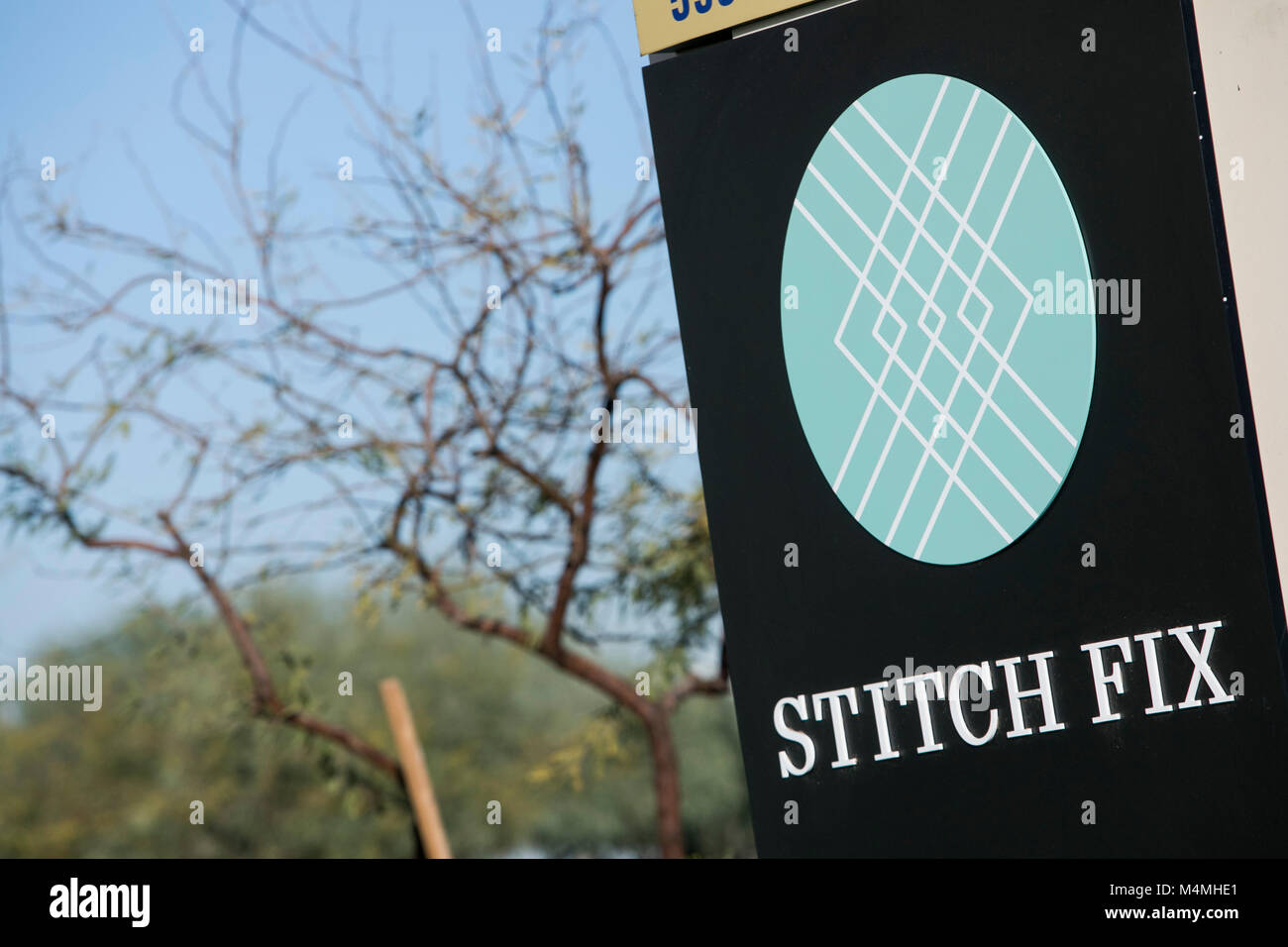A logo sign outside of a facility occupied by Stitch Fix in Phoenix, Arizona, on February 3, 2018. - Stock Image