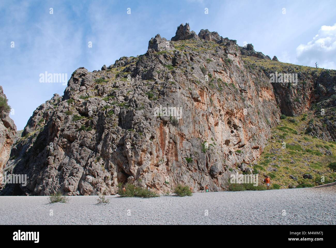 The Torrent de Pareis river gorge at Sa Calobra on the Spanish island of Majorca. - Stock Image