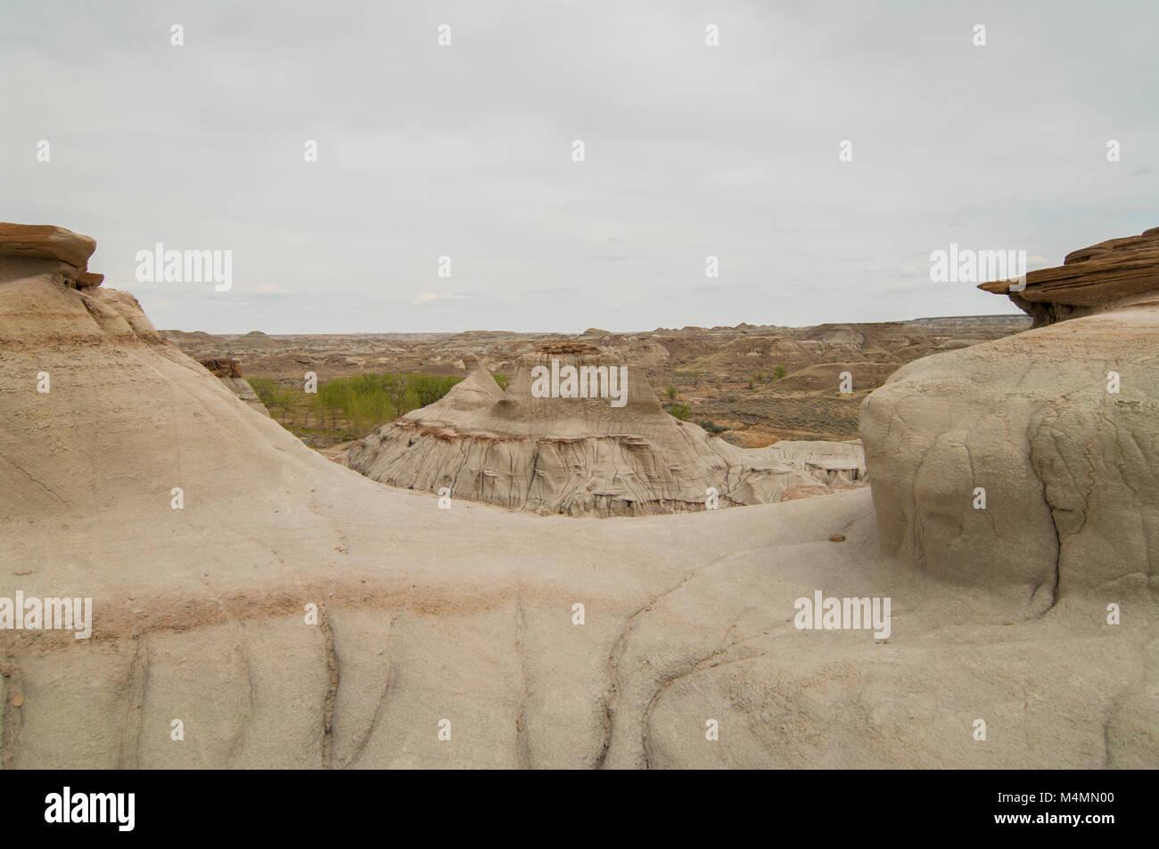 Landforms in Dinosaur Provincial Park, Alberta, Canada; a UNESCO World Heritage Site - Stock Image