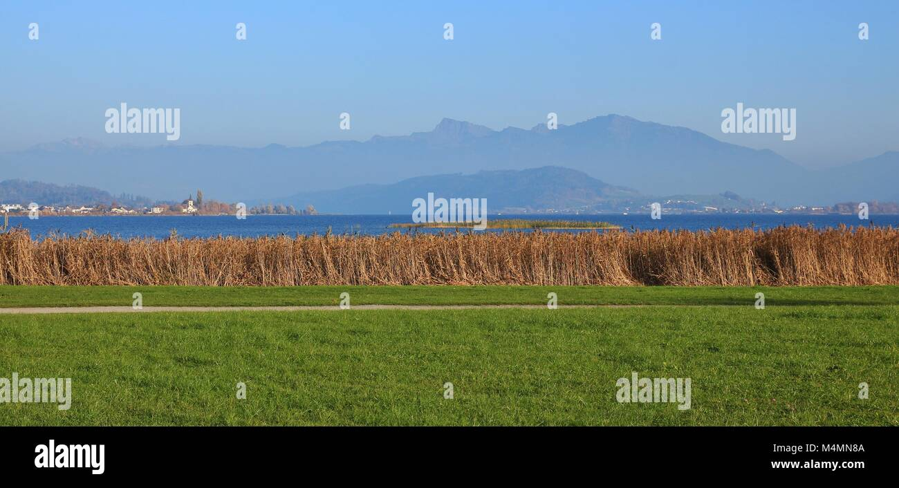 Landscape near Rapperswil, Switzerland. Nature background. - Stock Image