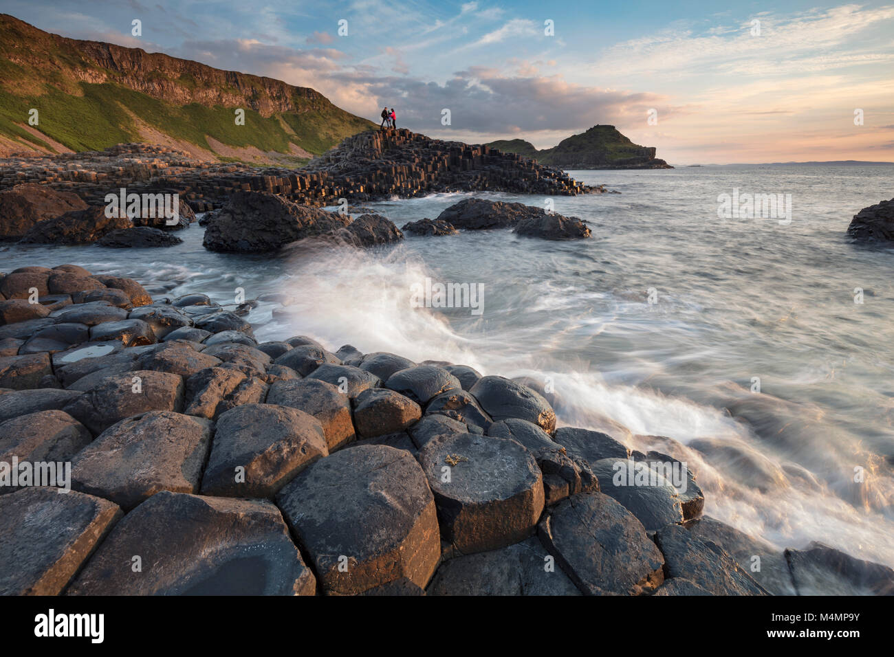 Evening at the Giant's Causeway, Country Antrim, Northern Ireland. - Stock Image