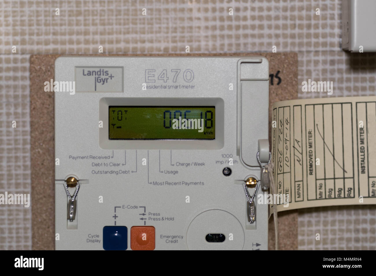 A smart residential electricity meter recording unit use for