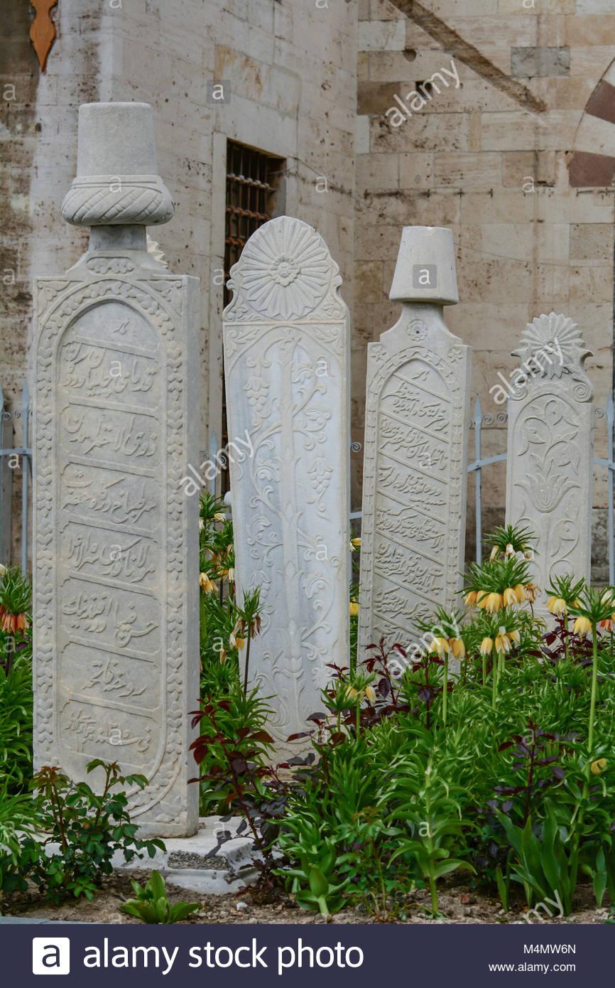 Tombstones of mevlana period - Stock Image