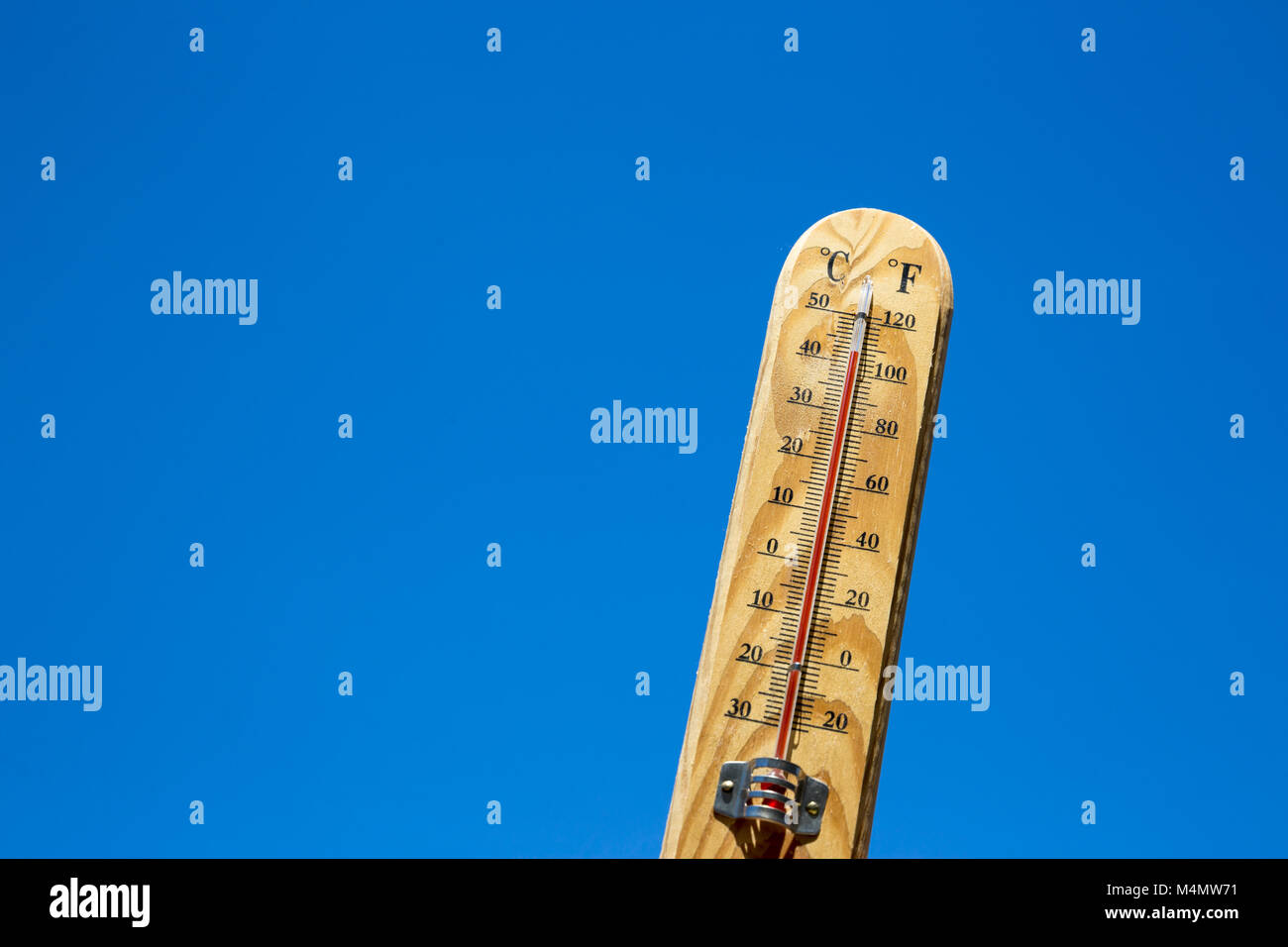 Mercury thermometer Summer heat - Stock Image