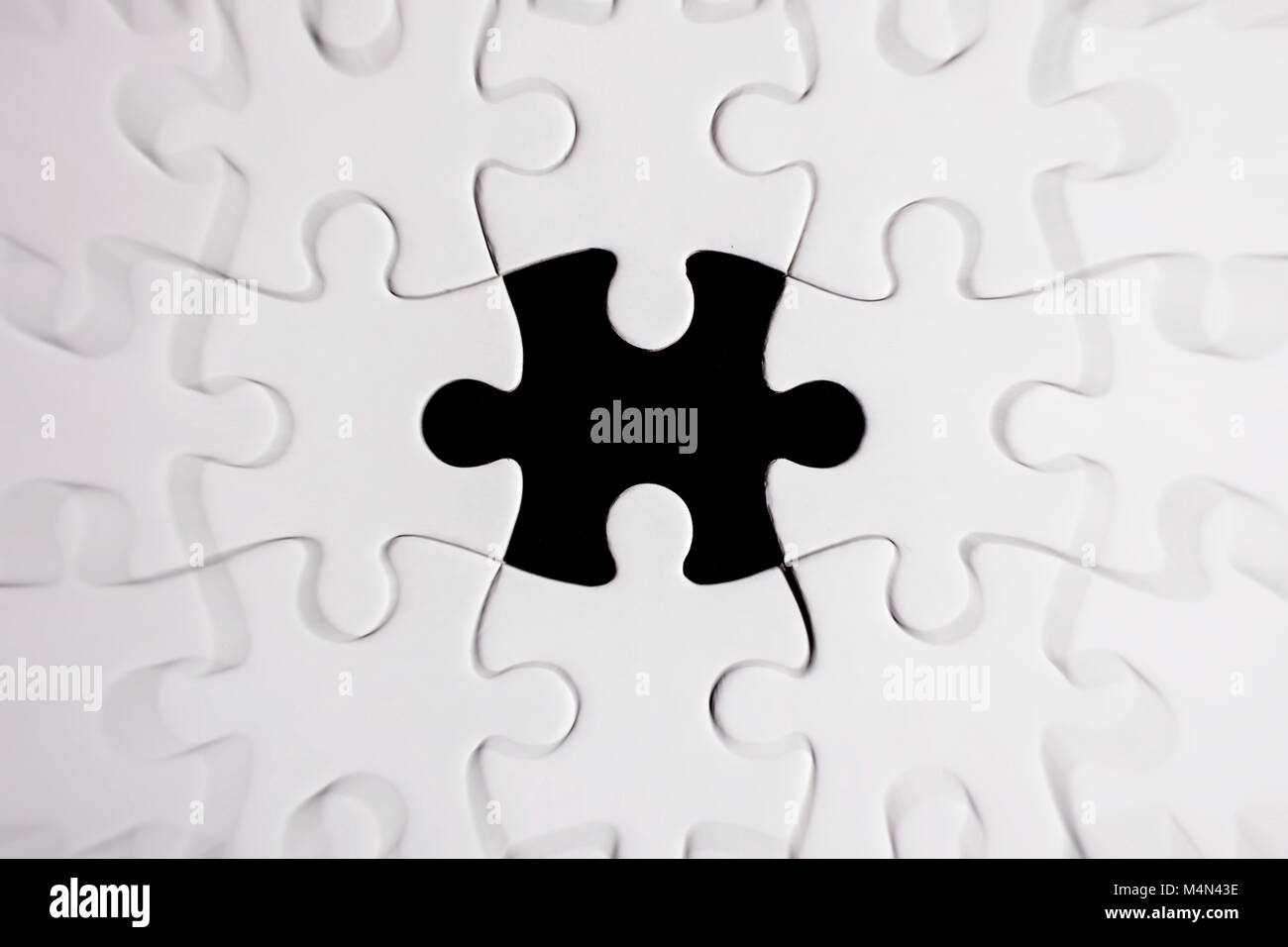pieces of the puzzle - zoom fx - Stock Image