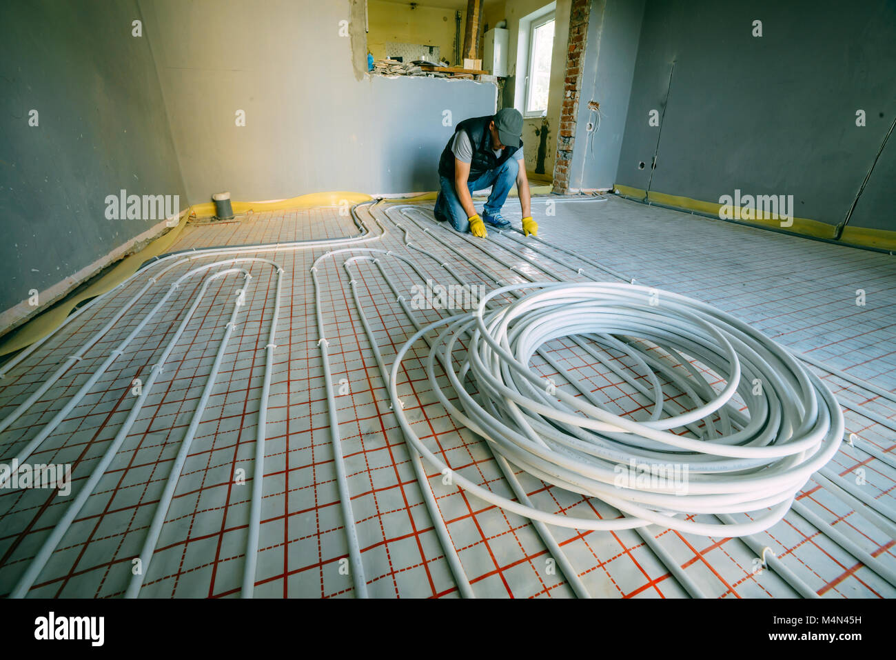 Underfloor Heating System Stock Photos & Underfloor Heating System ...