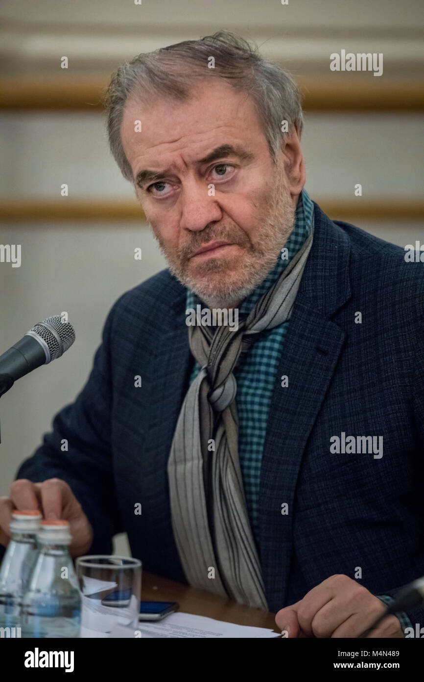 Russian conductor, artistic director of the Mariinsky Theatre Valery Gergiev during the media interview on 04 February, - Stock Image