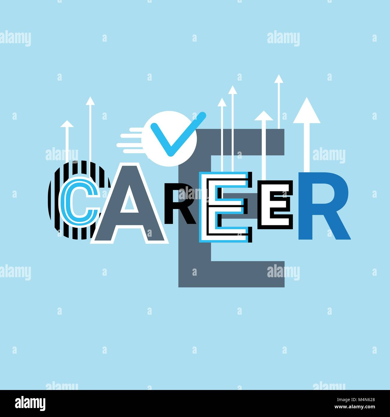Career Growth Business Creative Word Over Abstract Geometric Shapes Stock Vector Image Art Alamy