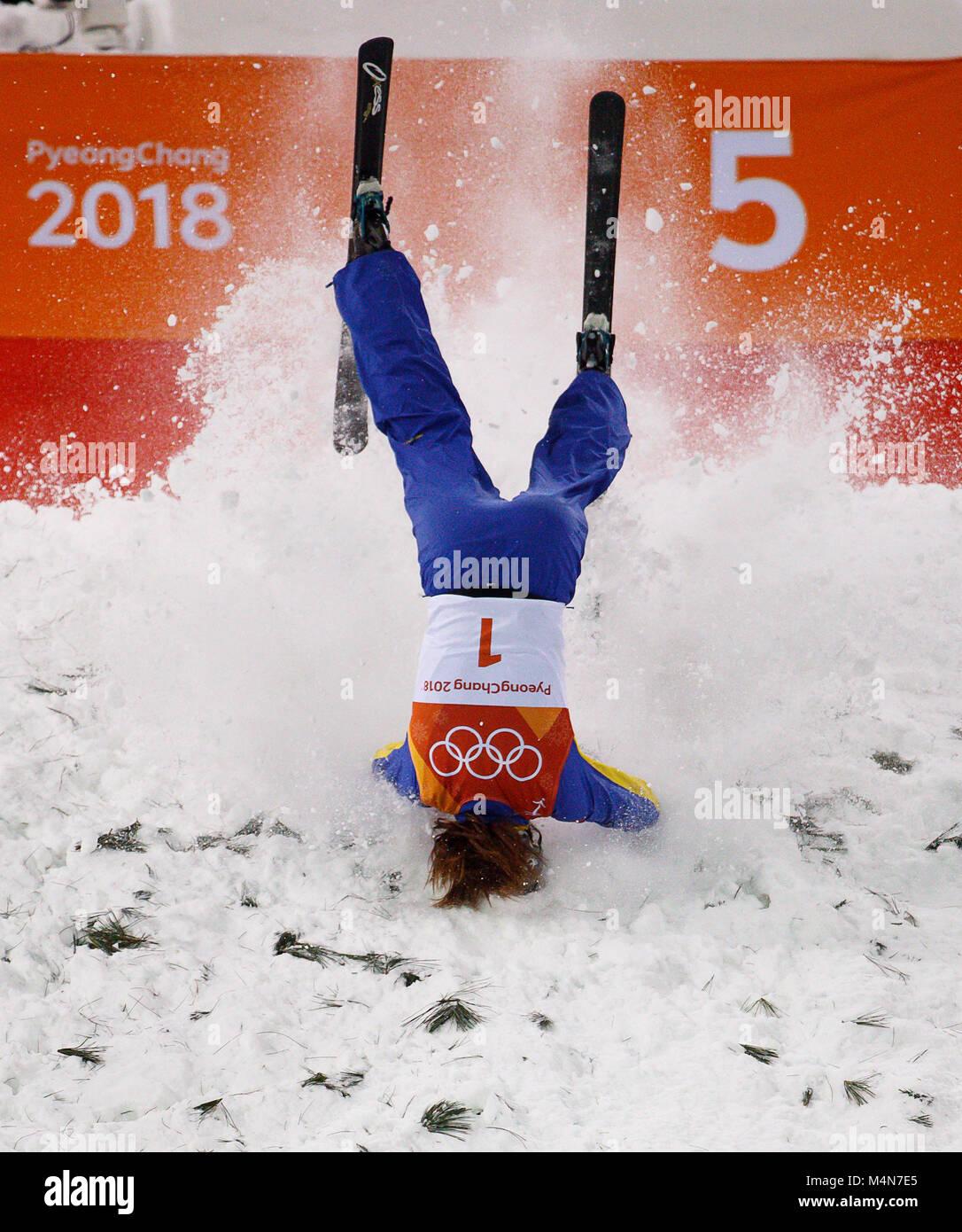 Pyeongchang, South Korea  16th Feb, 2018  Freestyle skier
