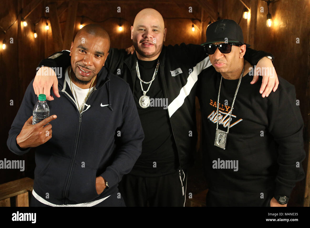 los angeles ca february 16 nore and fat joe at the taping of fat joes coca vision podcast in los angeles california on february 16 2018
