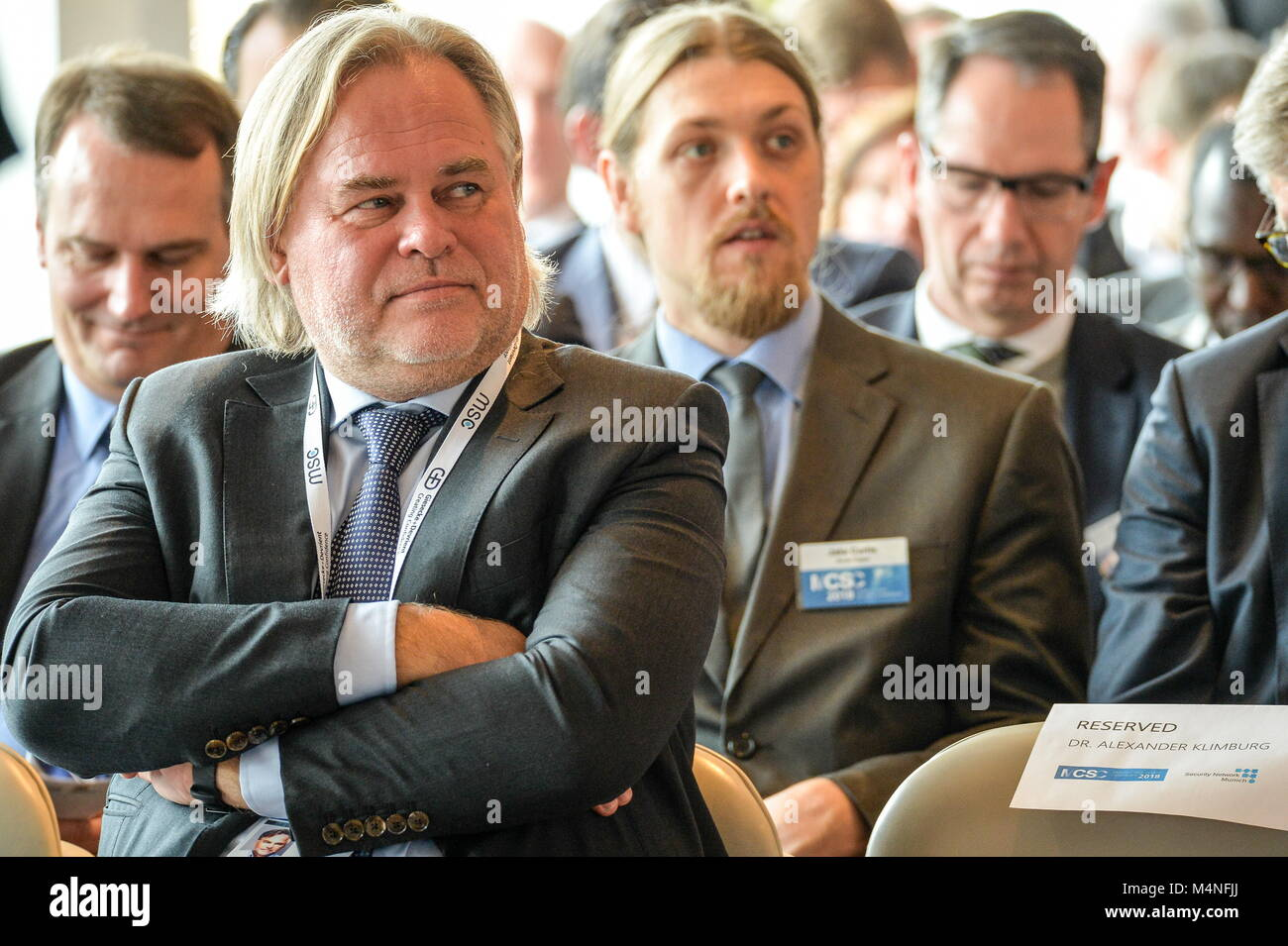 Munich, Germany. 15th Feb, 2018. MUNICH, GERMANY - FEBRUARY 15, 2018: Russia's Kaspersky Lab CEO and Chairman Eugene Stock Photo