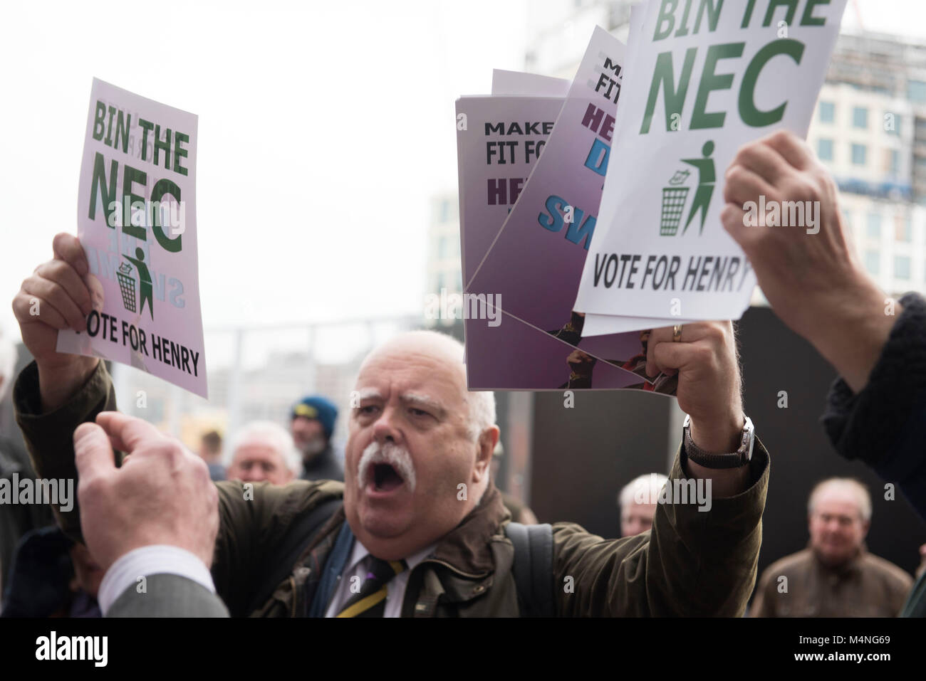 Birmingham ICC, UK. 17th Feb, 2018. UKIP EGM (extraordinary general meeting) A vote of confidence by party members - Stock Image