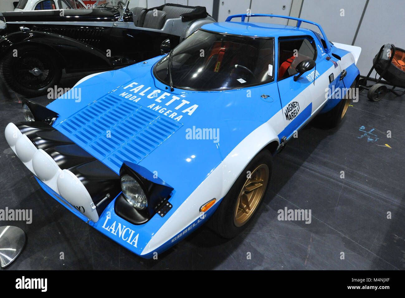 London, UK. 17th Feb, 2018. A 1974 Lancia Stratos rally car on display at the London Classic Car Show which is taking - Stock Image