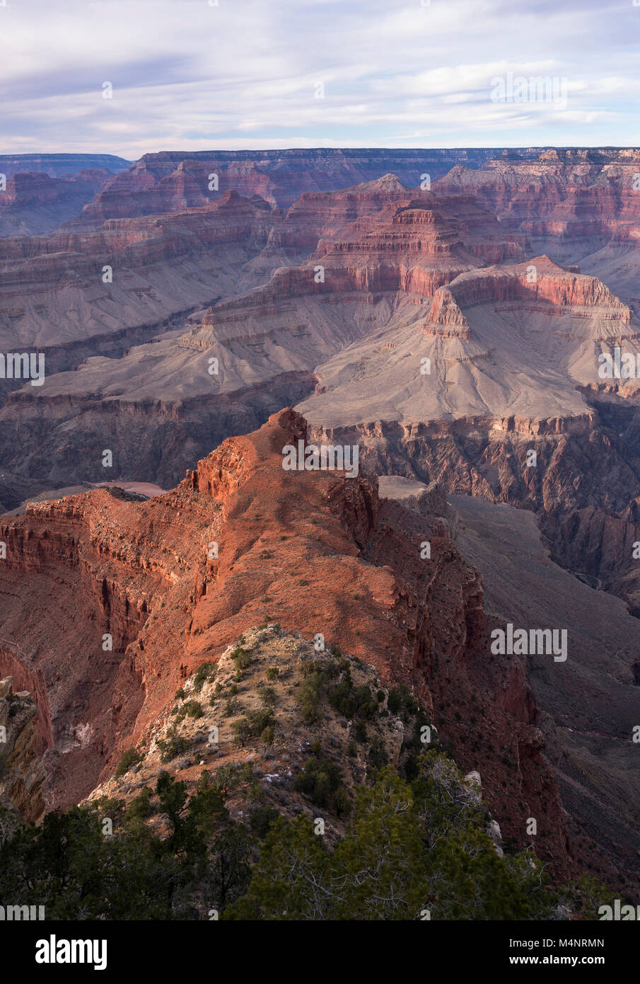 Grand Canyon National park above the Colorado River as viewed from the south rim. World famous destination located in northern Arizona. Stock Photo