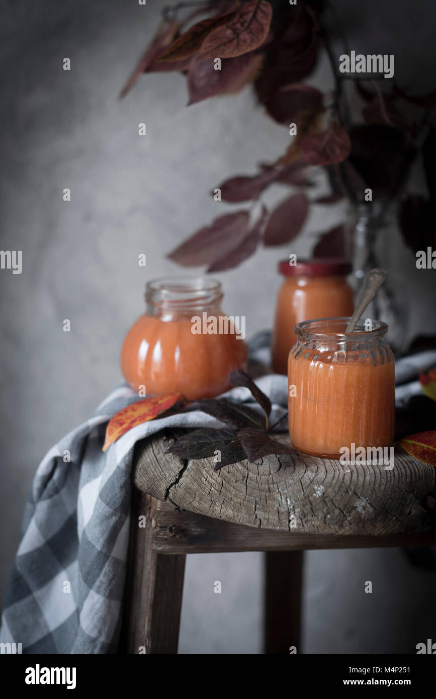 Home made quince jam - Stock Image
