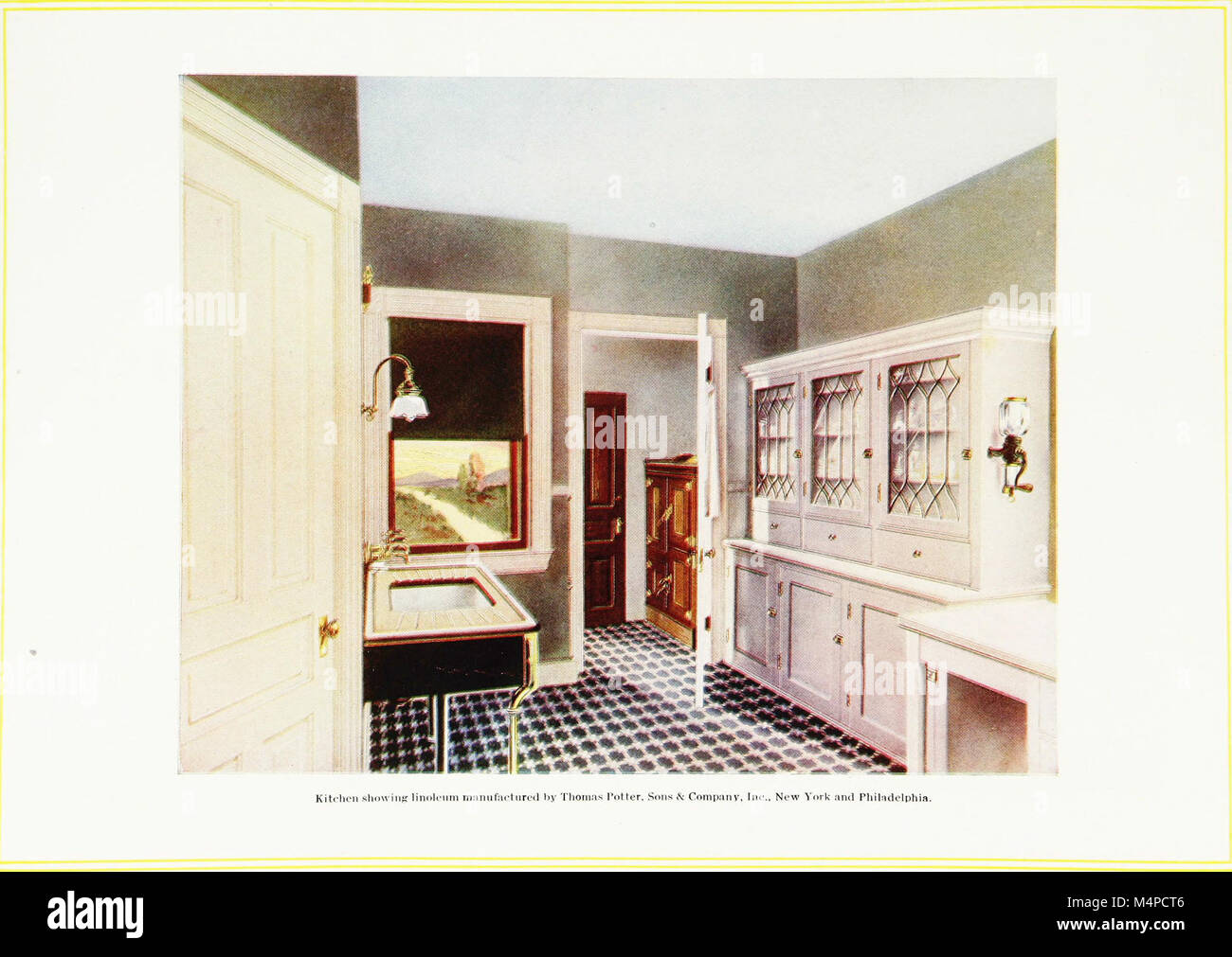 Book of home building and decoration, prepared in cooperation with and under the direction of the leading manufacturers Stock Photo