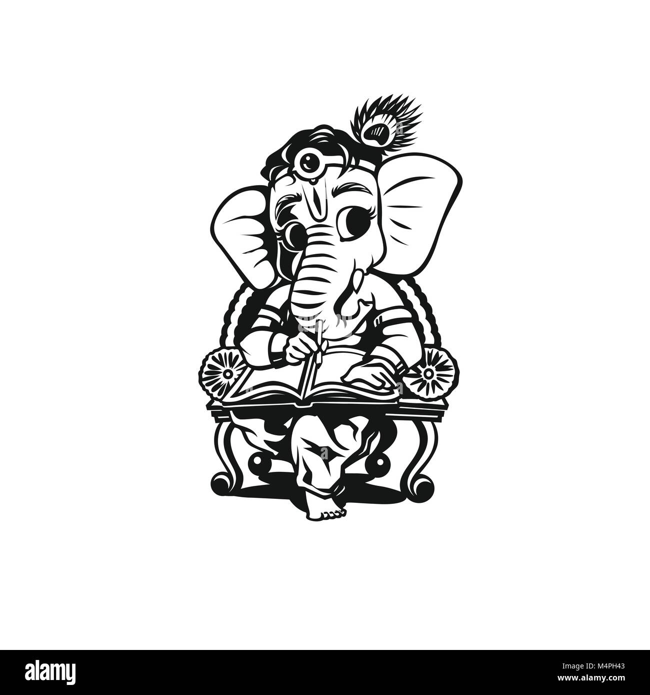 Ganpati Black And White Stock Photos Images Alamy