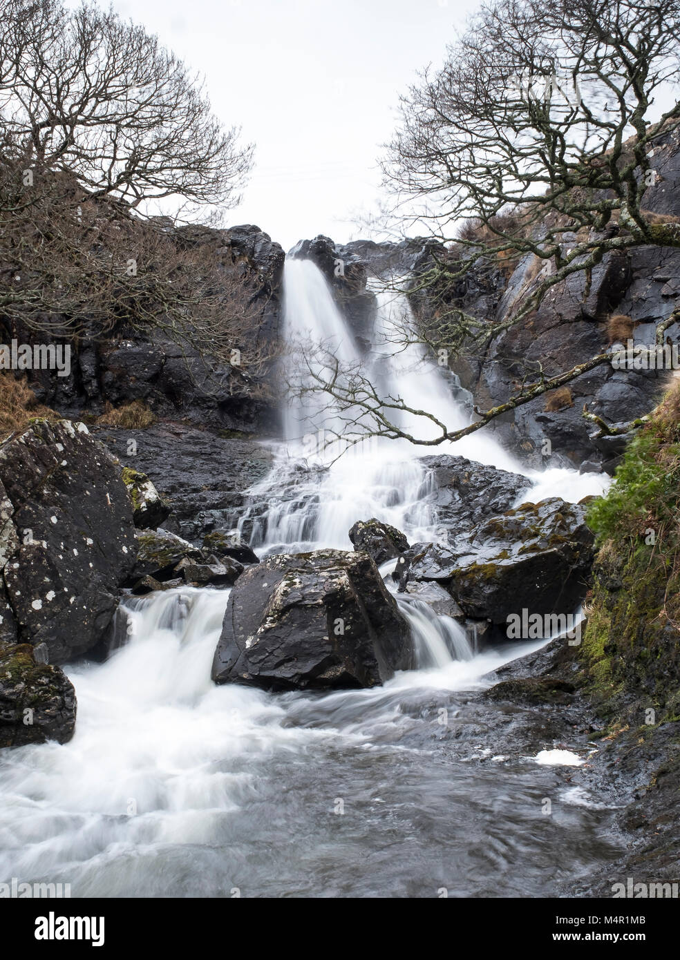 Eas Fors waterfall on river Allt an Eas Fors. Isle of Mull, Argyll and Bute Inner Hebrides, Scotland. - Stock Image