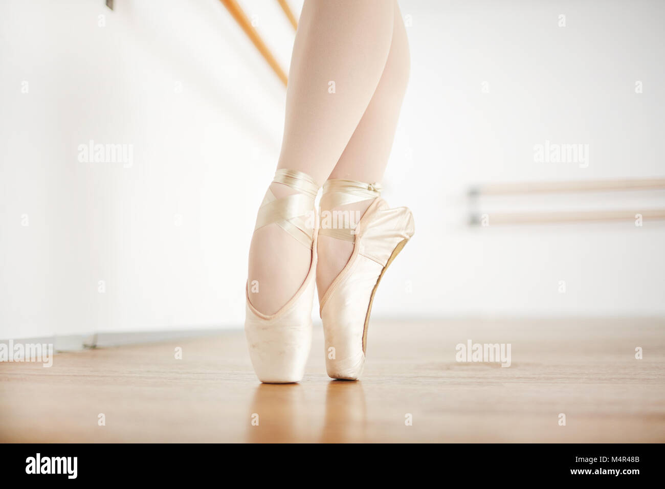 Dancing on toes - Stock Image