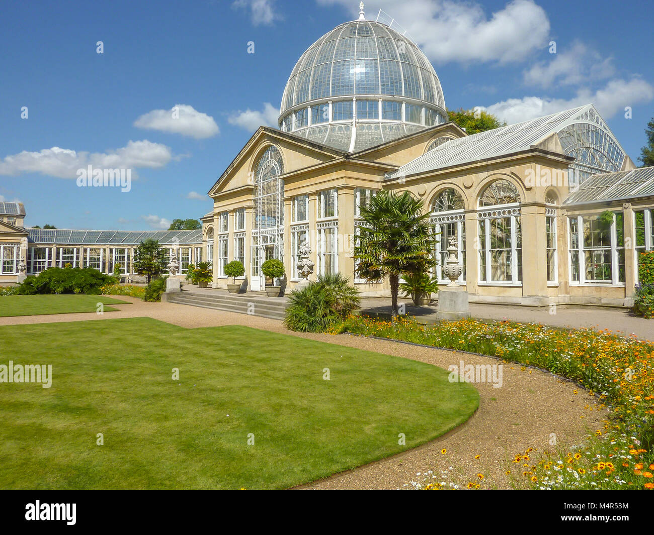The great Conservatory in the grounds of Syon Park , London, England - Stock Image