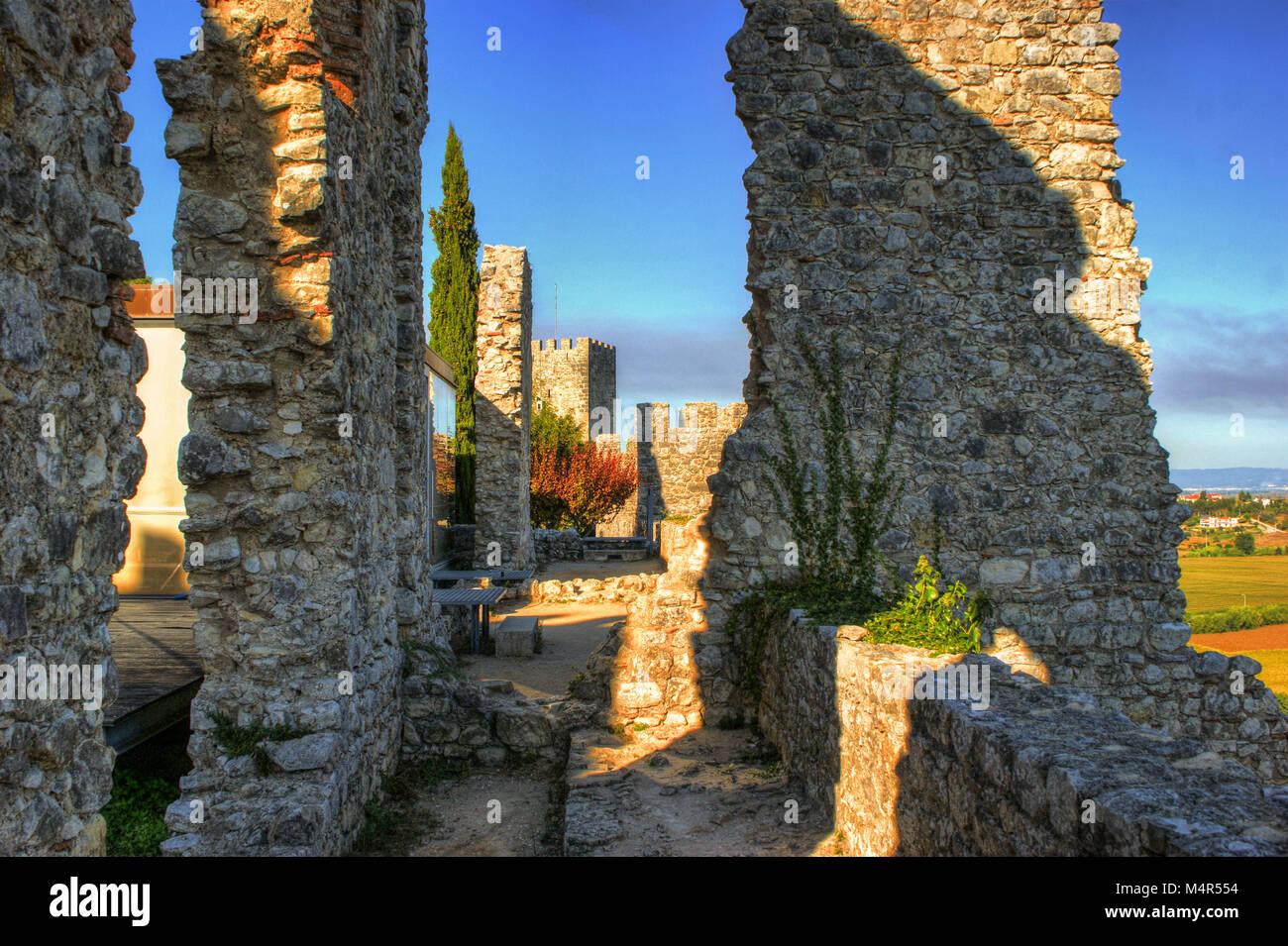 Ruined castle of Montemor-o-Velho, Portugal/ - Stock Image
