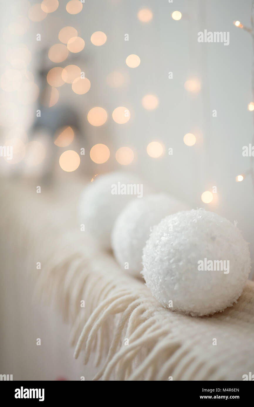 christmas stuff. shot made with shalow depth of field. selective focus. 2016 - Stock Image