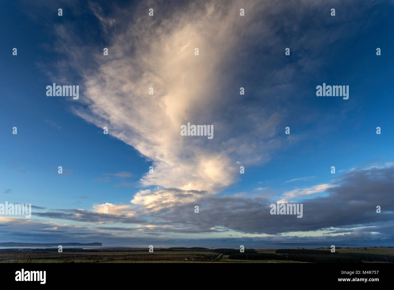 Clouds above Dunnet Head and the Pentland Firth, Caithness, Scotland, UK. - Stock Image