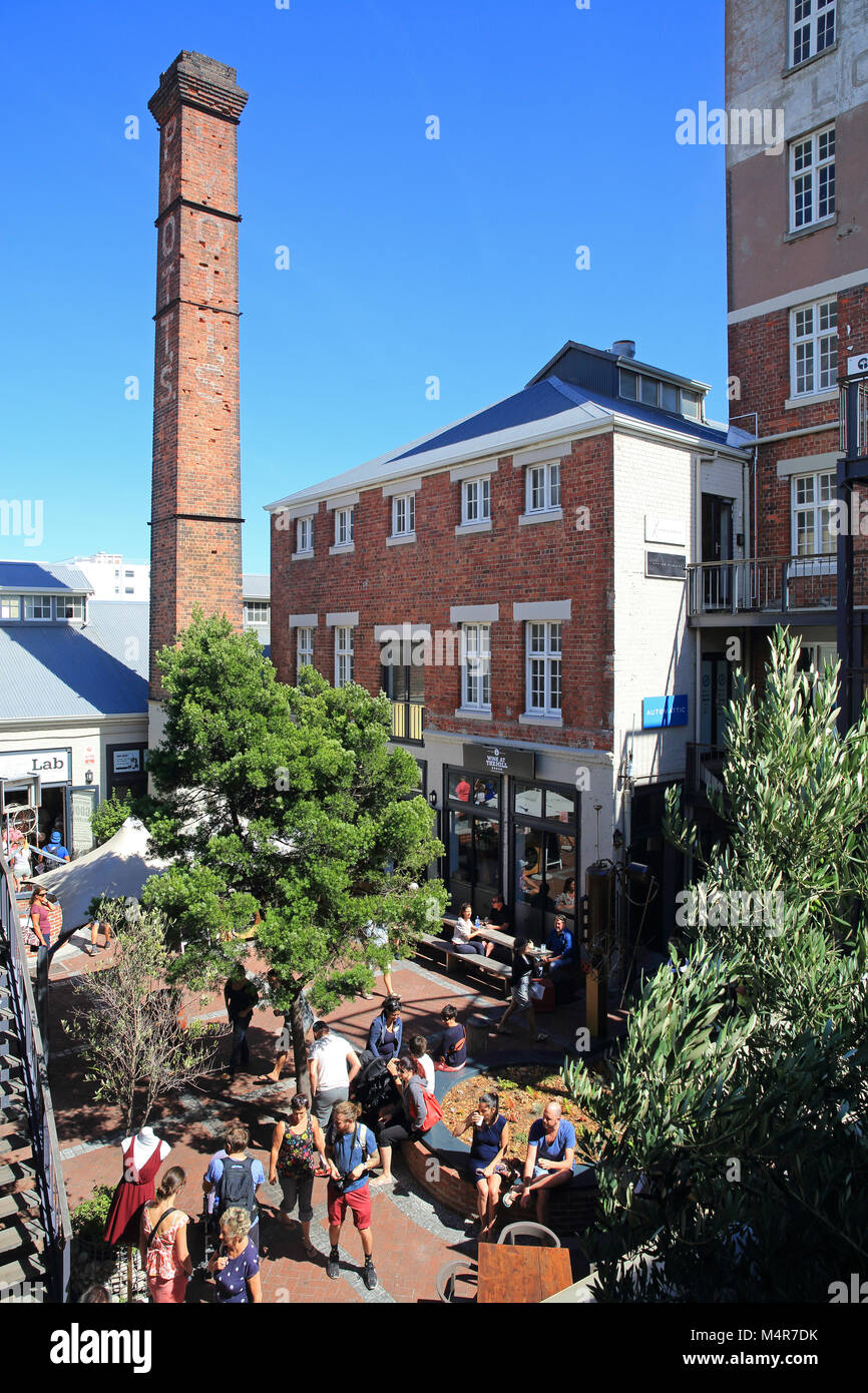 Saturday at tholidayhe Old Biscuit Mill, in the heart of trendy Woodstock, with designer boutiques and workshops, Stock Photo