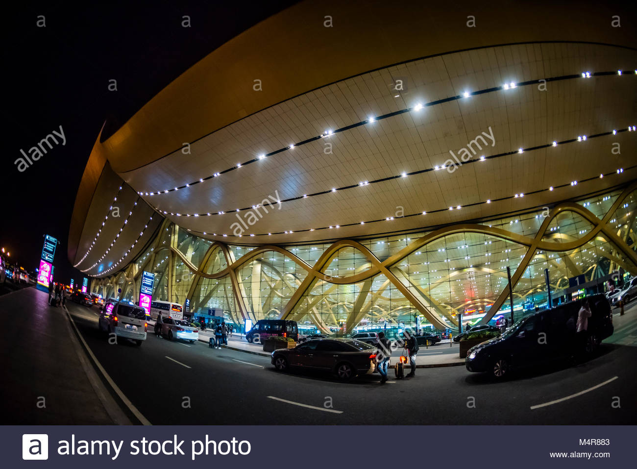 Exterior view of the Kunming Changshui International Airport, Kunming, Yunnan Province, China. - Stock Image
