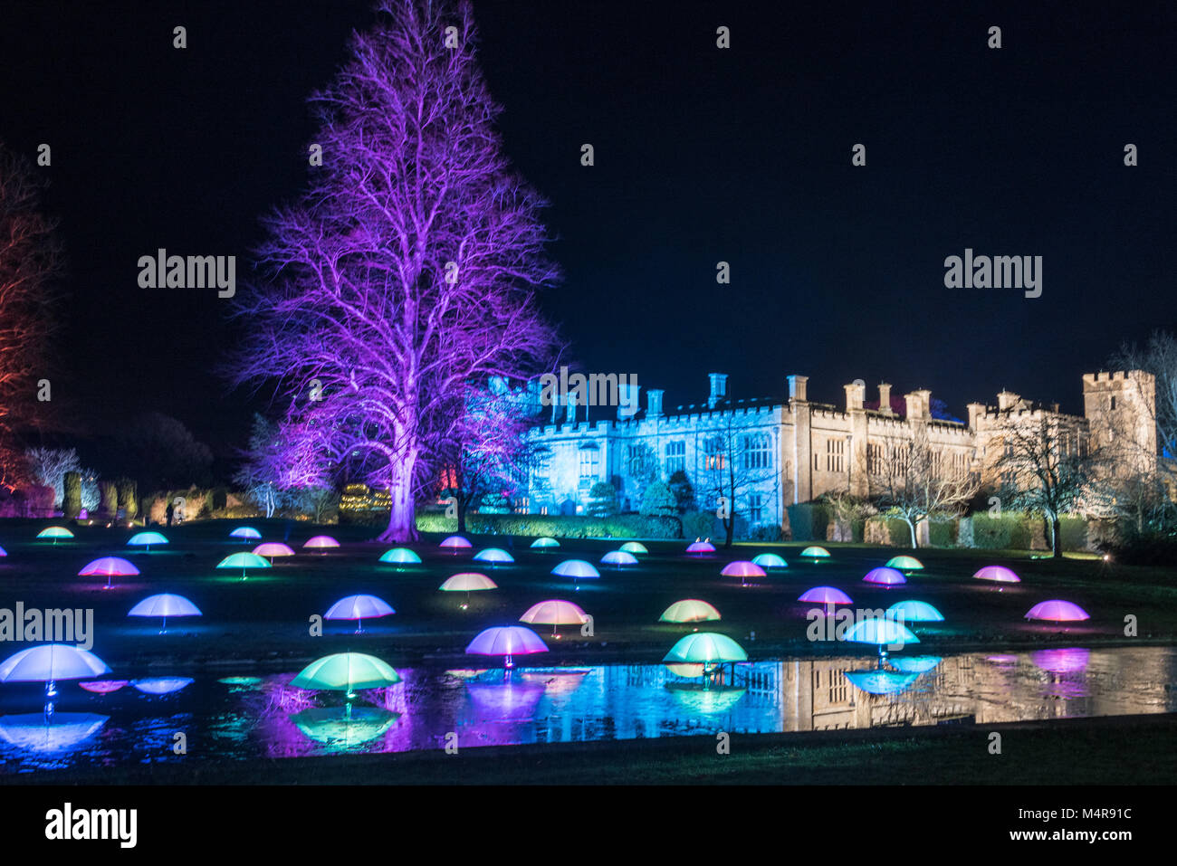 Sudeley Castle Spectacle of Light - Stock Image