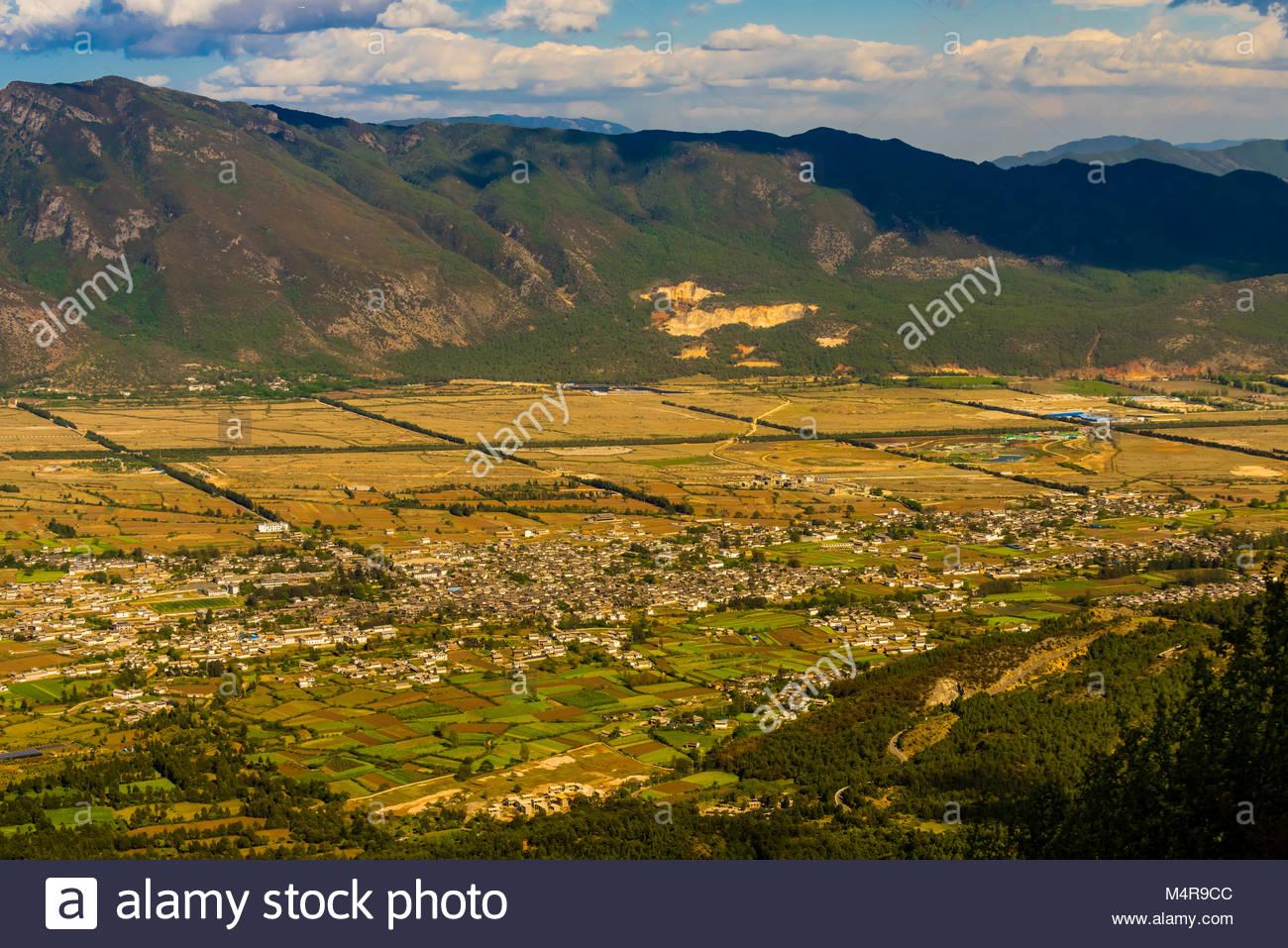Villages near Lijiang, Yunnan Province, China. Stock Photo