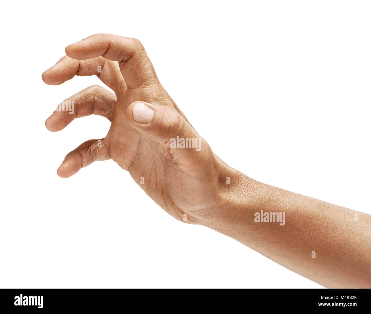 grabbing hand gesture isolated stock photos grabbing hand gesture