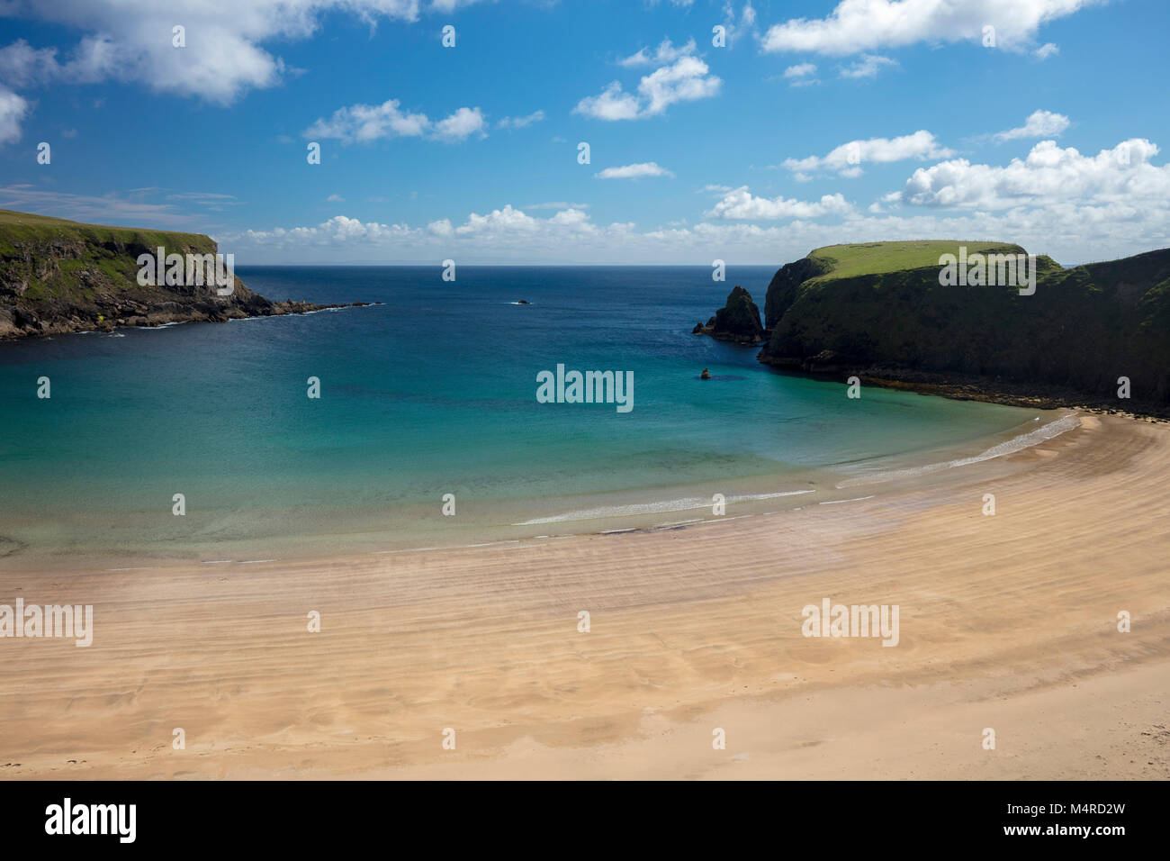 The beach of Trabane, or Silver Strand, in Malin Beg, County Donegal, Ireland. - Stock Image