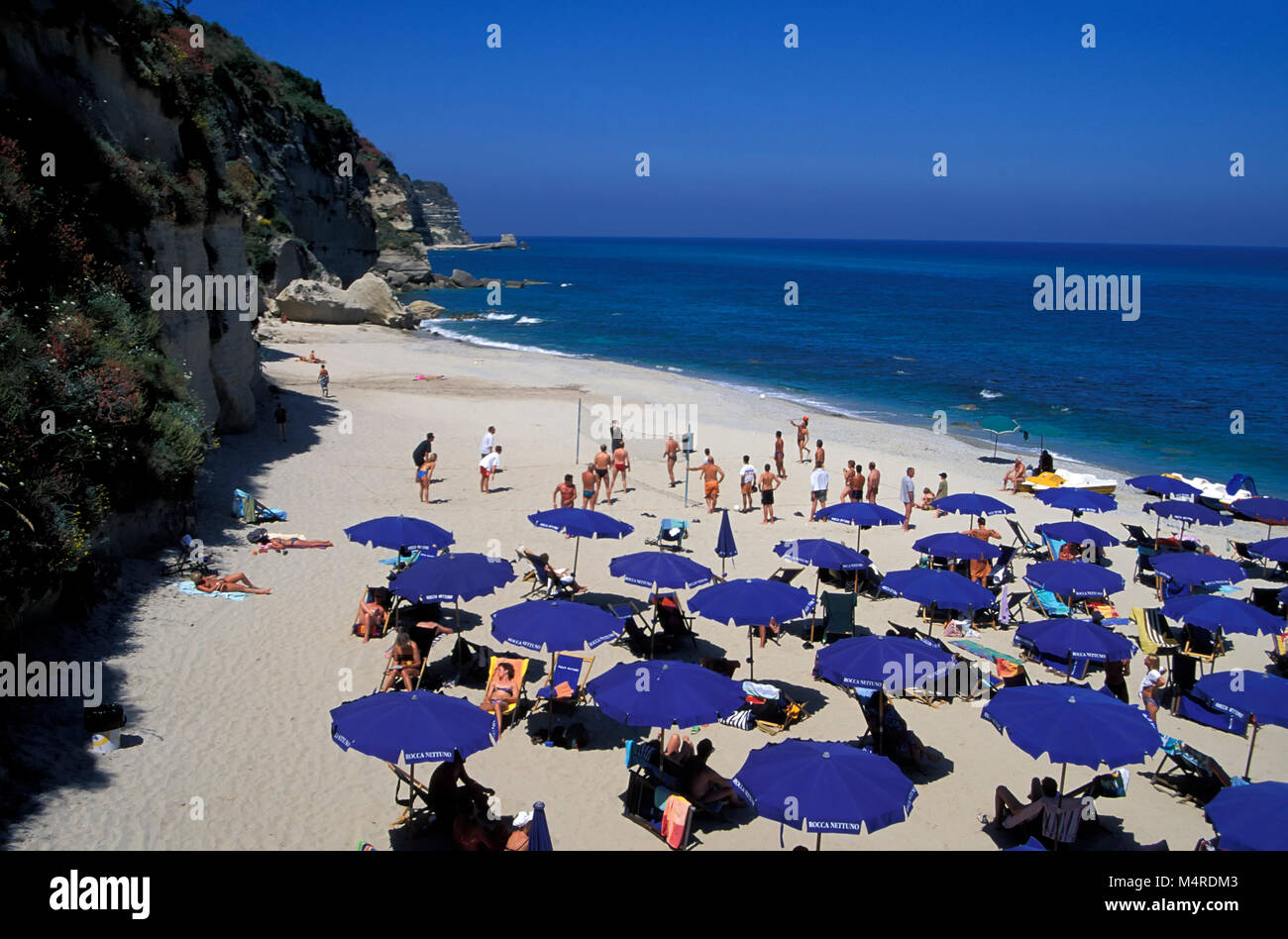 Tropea beach, Calabria, Italy Stock Photo