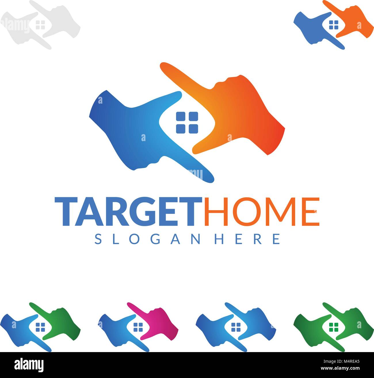 Target Home, Real estate vector logo design, simple realty with ...
